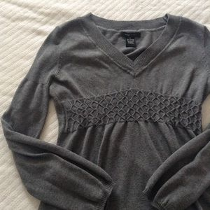 BCBGMaxAzria Tops - Long sleeve gray blouse